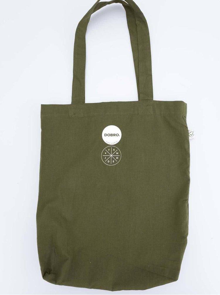 """""""Dobrá"""" zelená taška s potiskem pro Tamjdem"""