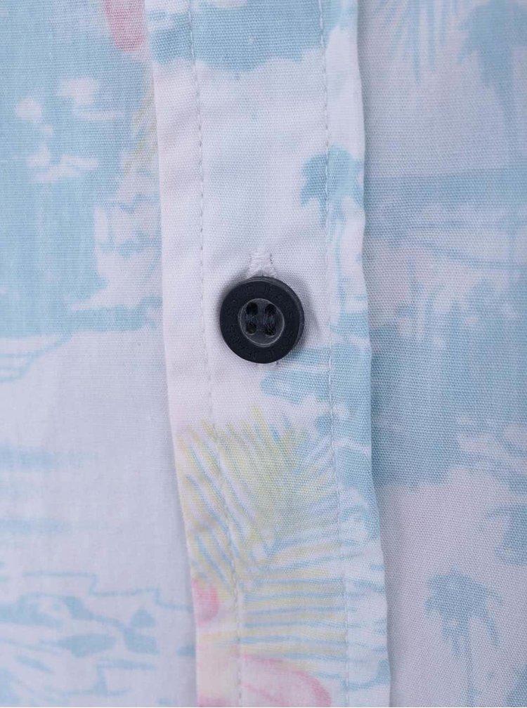 Biela košeľa so svetlomodrou potlačou !Solid Nihad