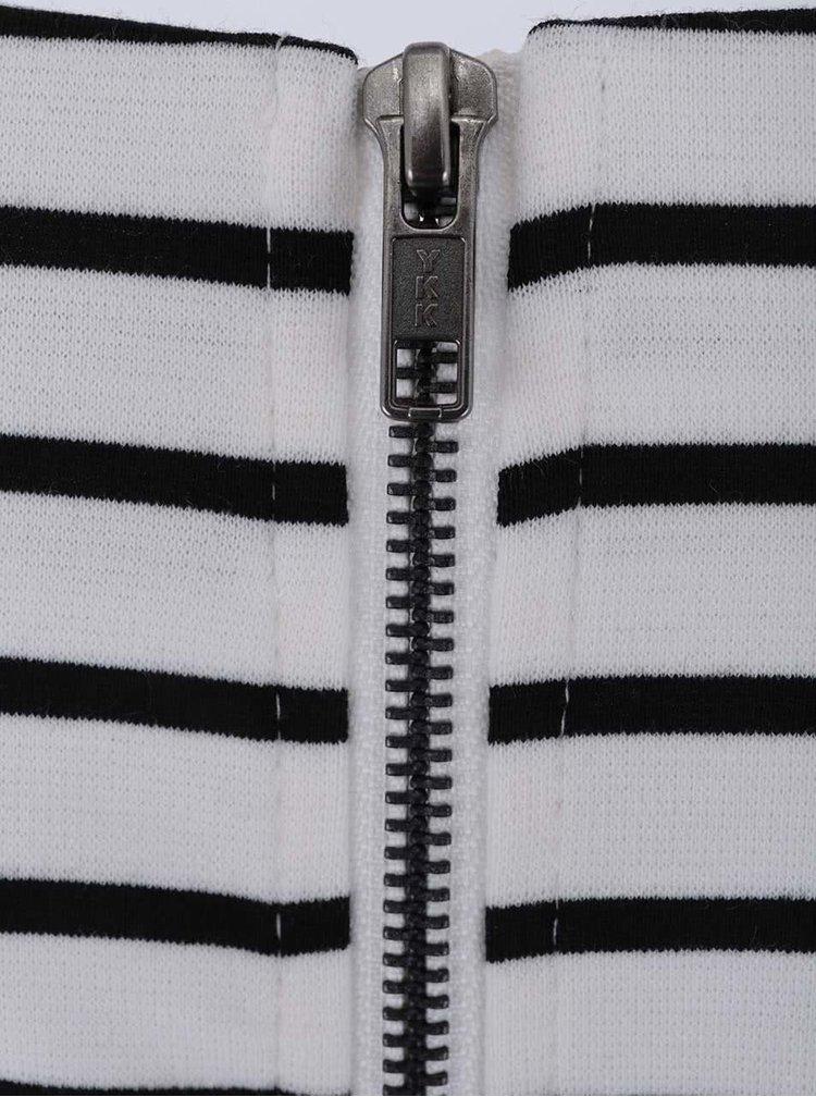 Rochie cu mânecă scurtă VILA Tinny cu dungi - negru și alb