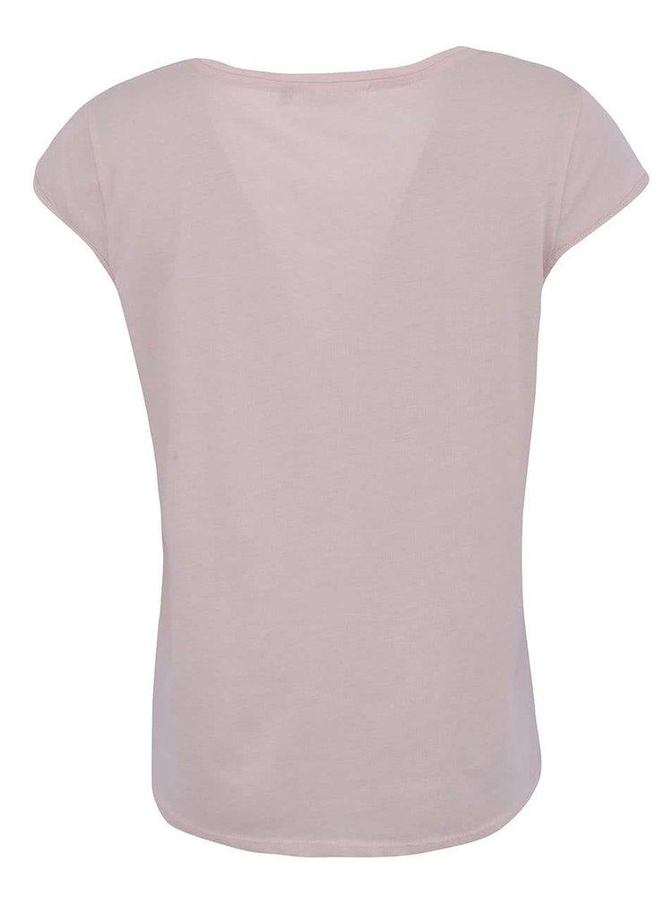 Růžové tričko s nápisem ONLY Luki