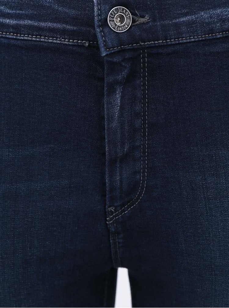 Jeanși de damă skinny albastru navy Pepe Jeans Cutie