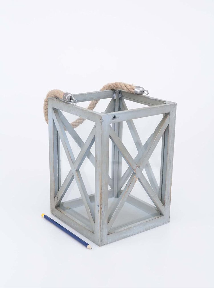 Suport lumânare Dakls gri, din lemn