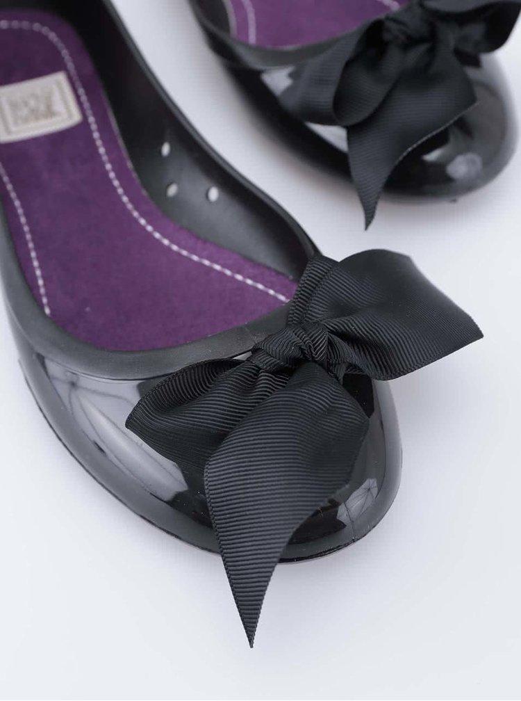 Čierne balerínky s mašľou Colours of California