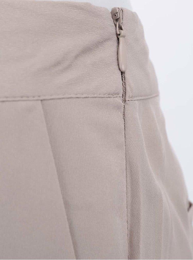 Pantaloni bej largi VERO MODA Just Easy