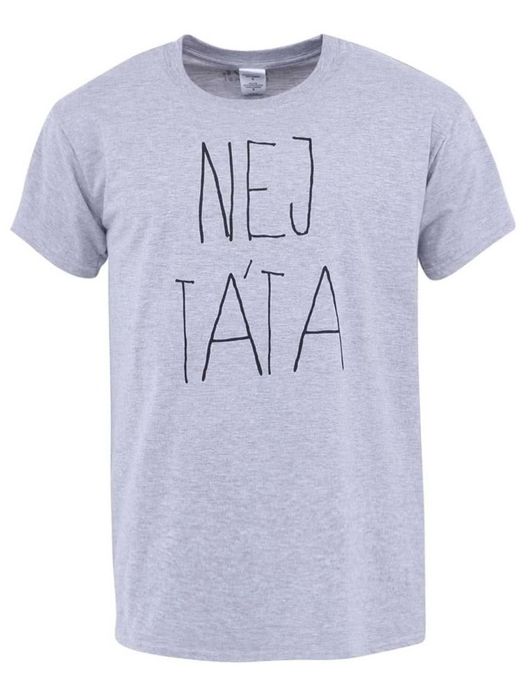 Šedé pánské tričko ZOOT Originál Nej táta