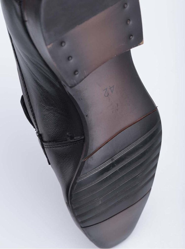 Čierne kožené mokasíny Dice Dillion