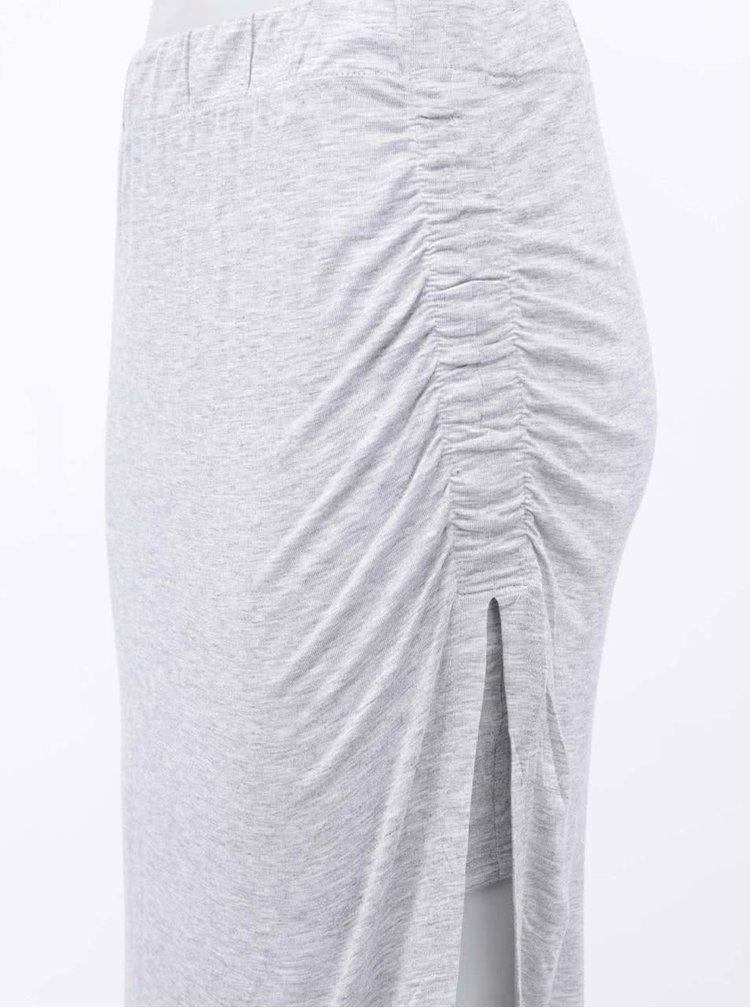 Šedá asymetrická sukně ONLY Ria