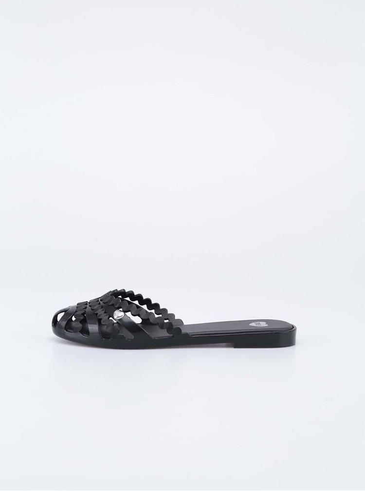 Černé plastové pantofle Mel Jelly
