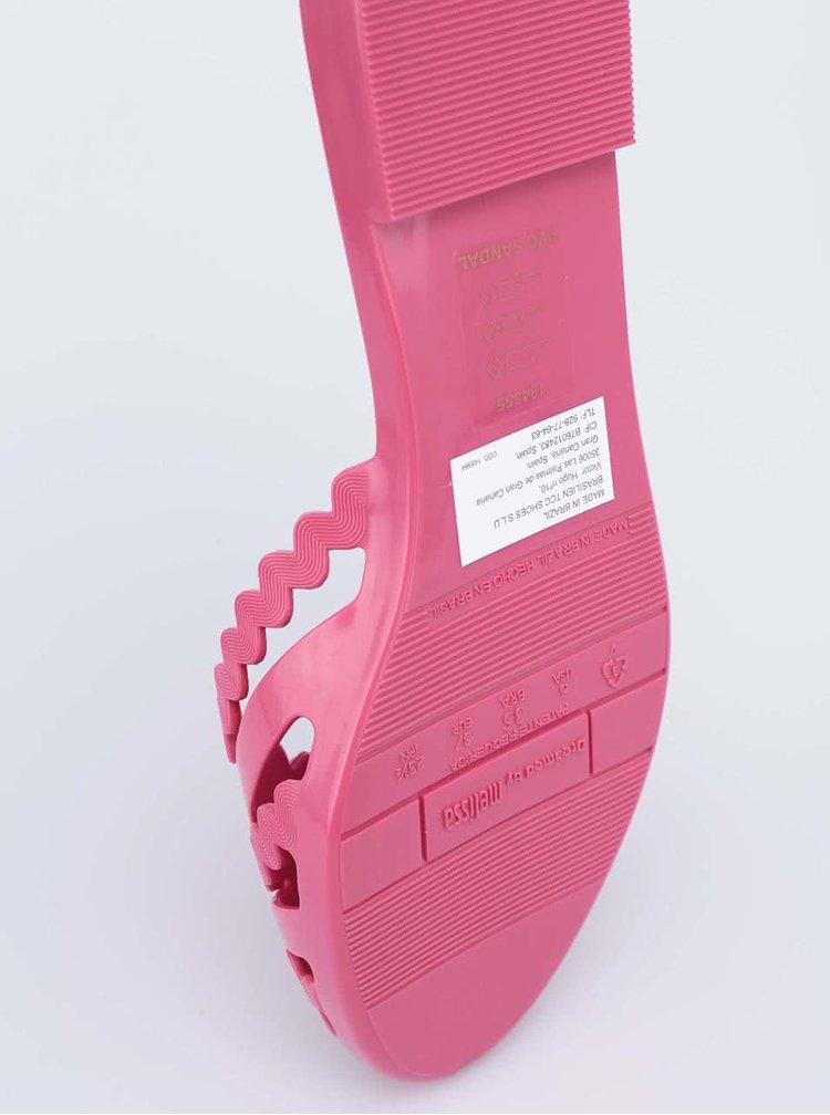 Růžové plastové pantofle Mel Jelly
