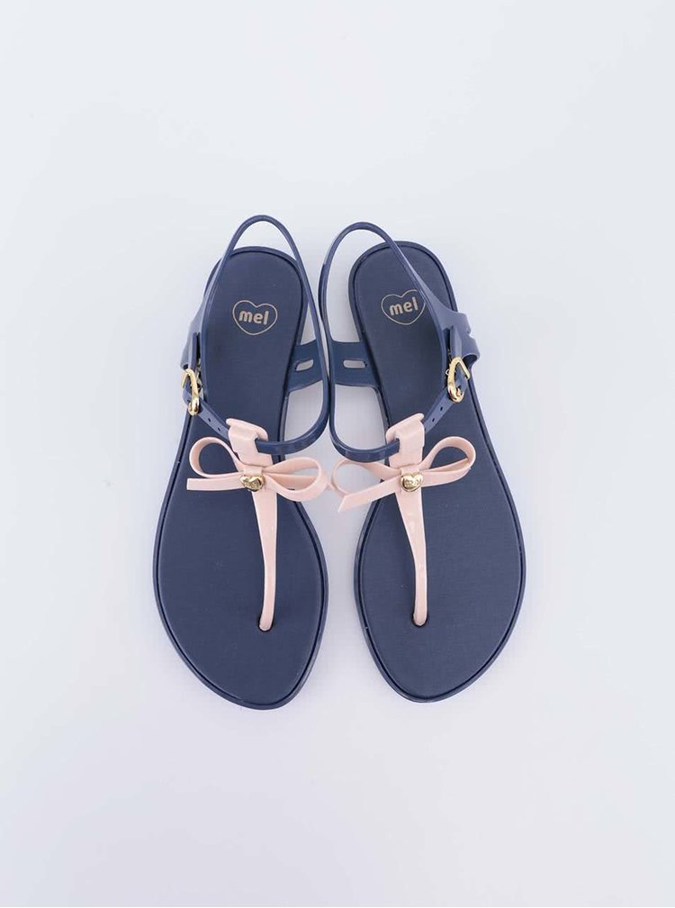 Modré sandálky s mašličkou Mel Special II