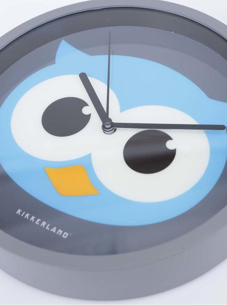 Nástěnné hodiny se sovou Kikkerland Owl