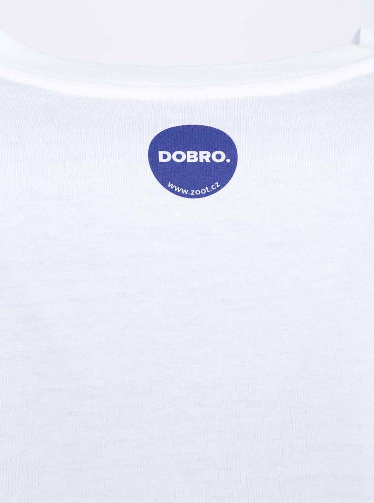 """""""Dobré"""" bílé pánské triko pro Náplavka k světu"""
