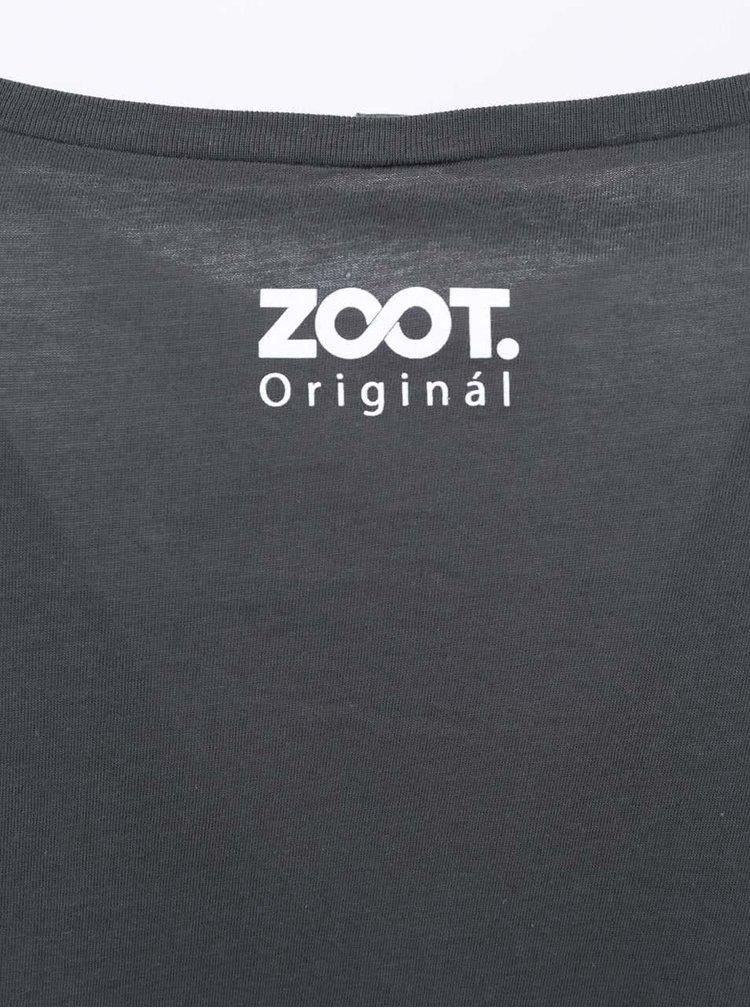 Tmavě šedé těhotenské tričko ZOOT Originál Mrak