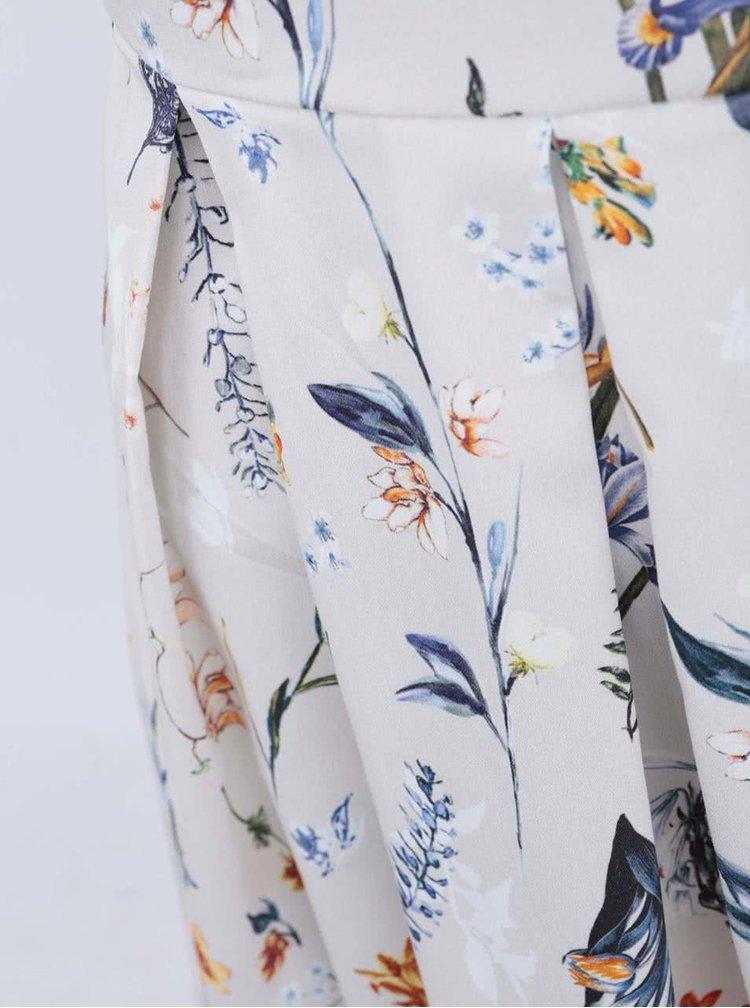 Krémové šaty s květy Closet