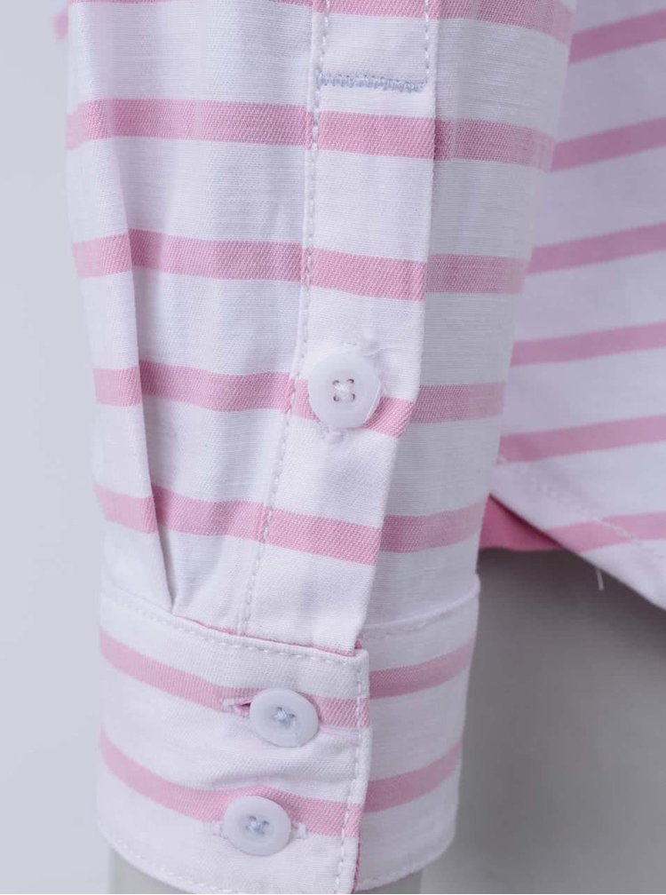 Bílo-růžová pruhovaná košile Tom Joule Clovelly