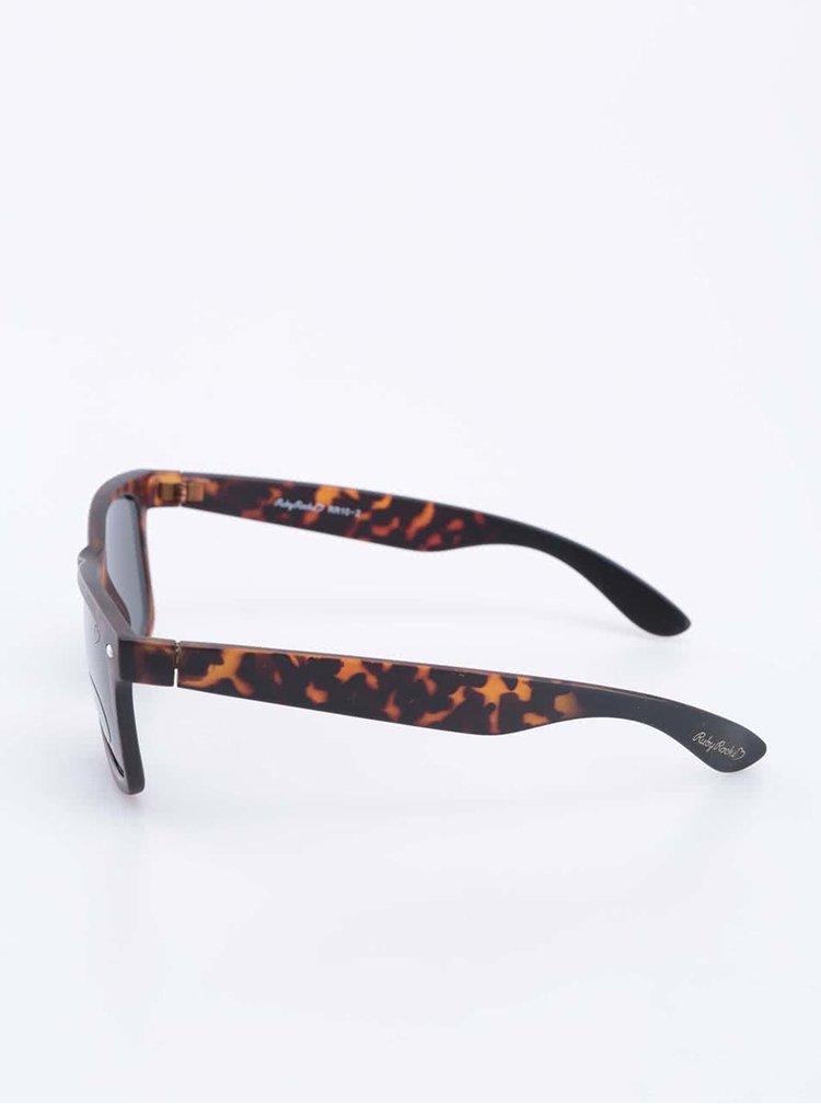 Ochelari de soare negru/maro model carapace de testoasa Ruby Rocks