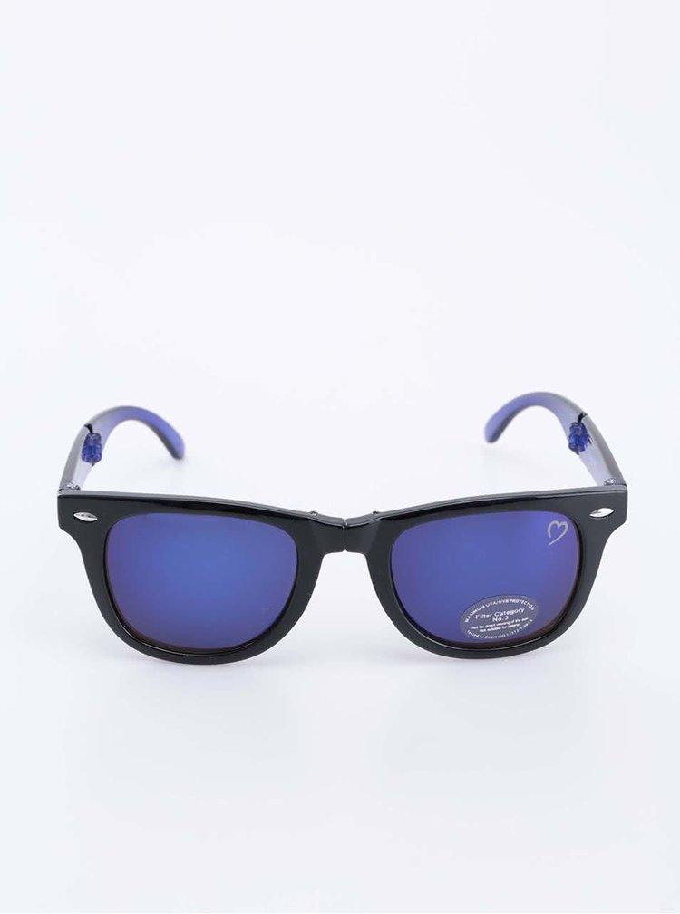 Modro-čierne slnečné okuliare Ruby Rocks
