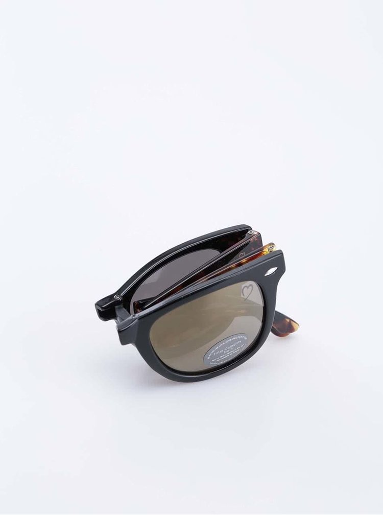 Žlto-čierne korytnačkové slnečné okuliare Ruby Rocks