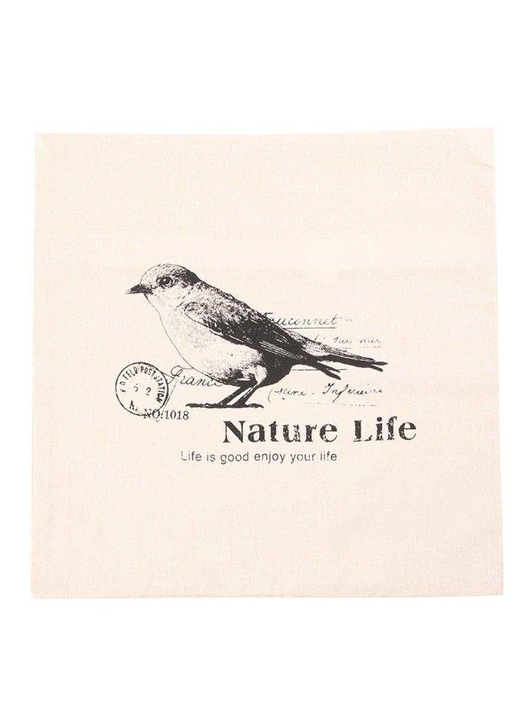 Béžová obliečka na vankúš Dakls Nature Life