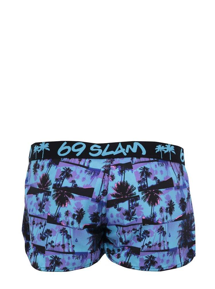 Modré vzorované dámske krátke nohavice 69SLAM Miami