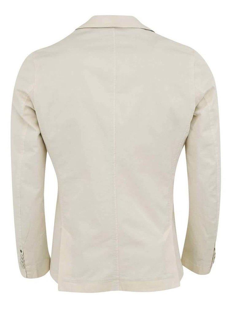 Krémové pánské sako s kapsami Bertoni
