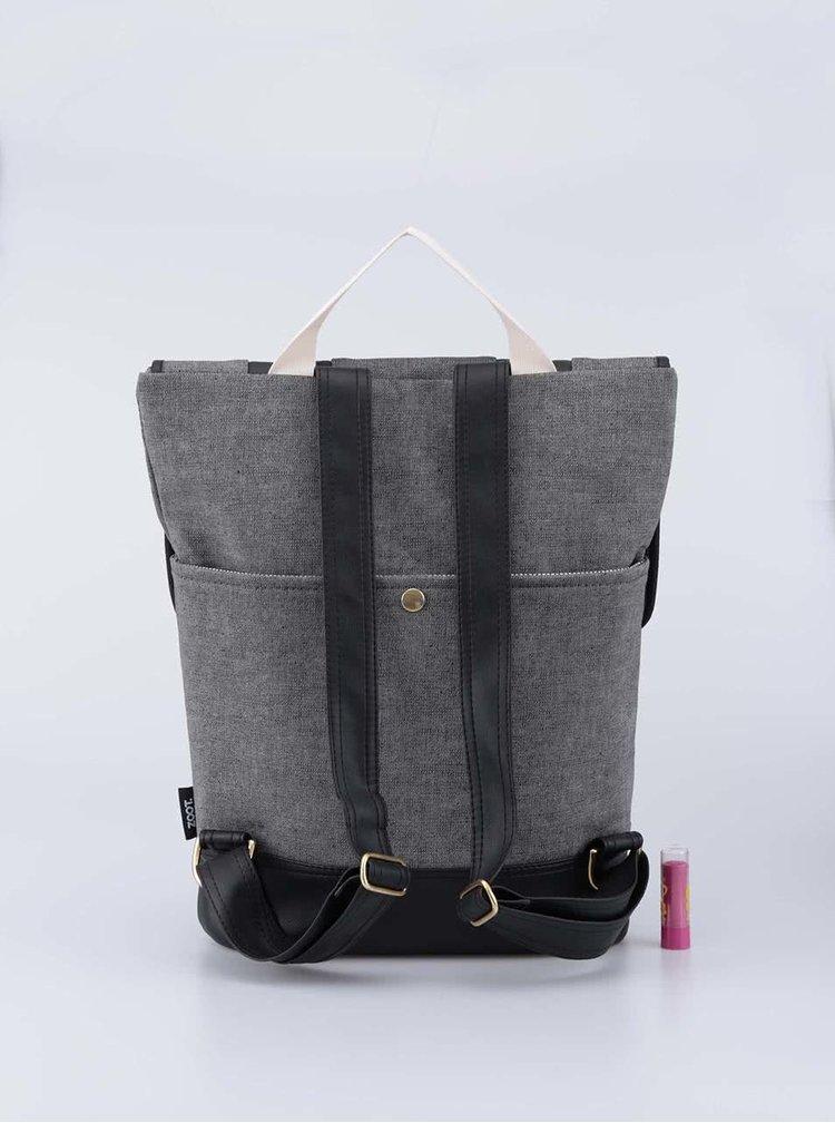 Šedý denimový hranatý batoh ZOOT Lokál