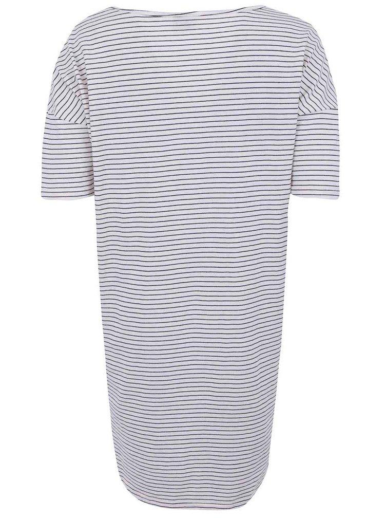 Bílé pruhované šaty VILA Piel