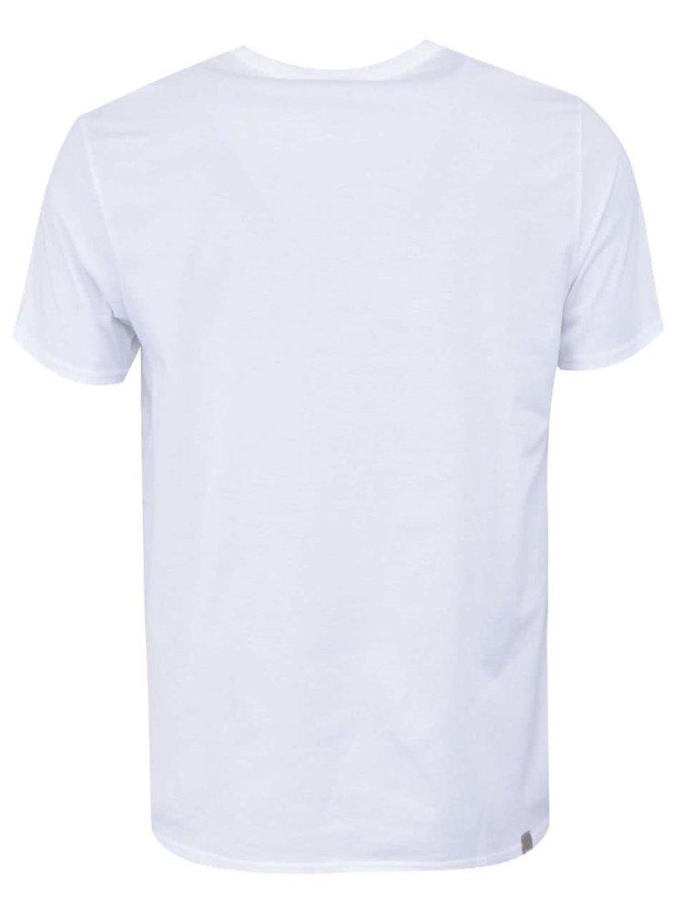Bílé pánské triko s potiskem Bench City Weather