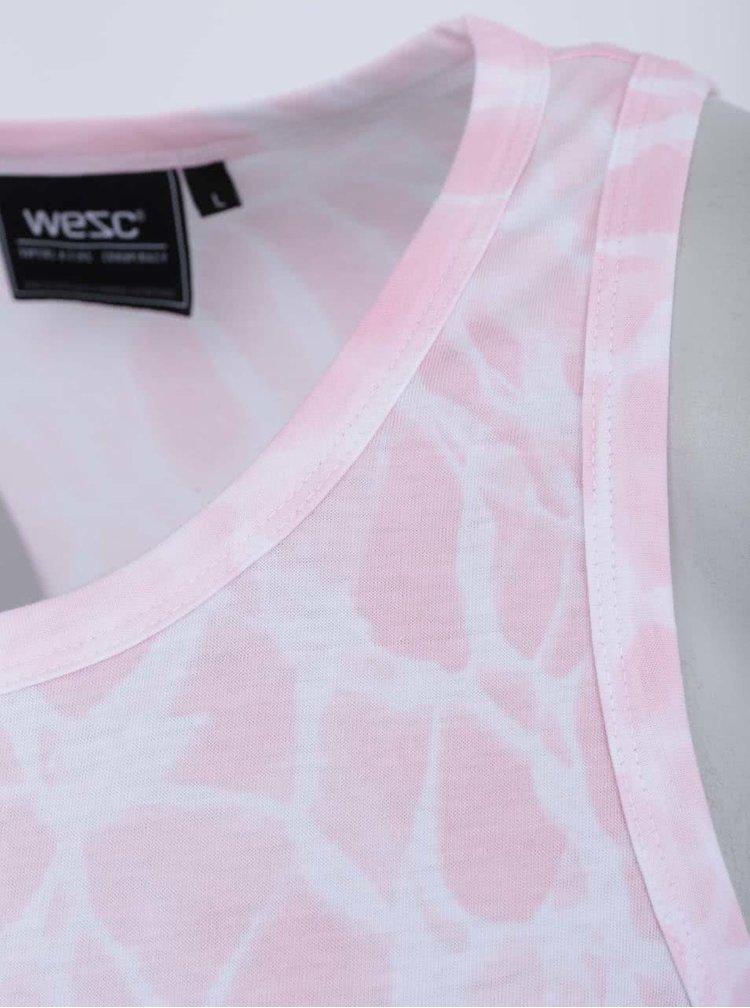 Světle růžové tílko s bílým vzorem WeSC Palma