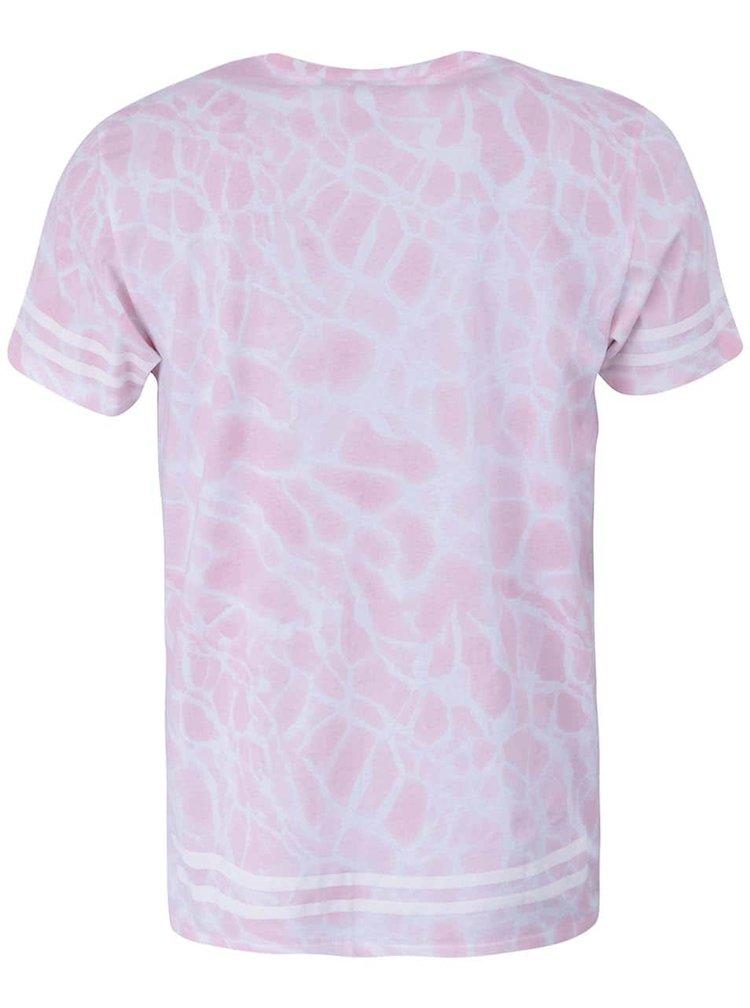 Světle růžové triko s bílým vzorem WeSC W Star