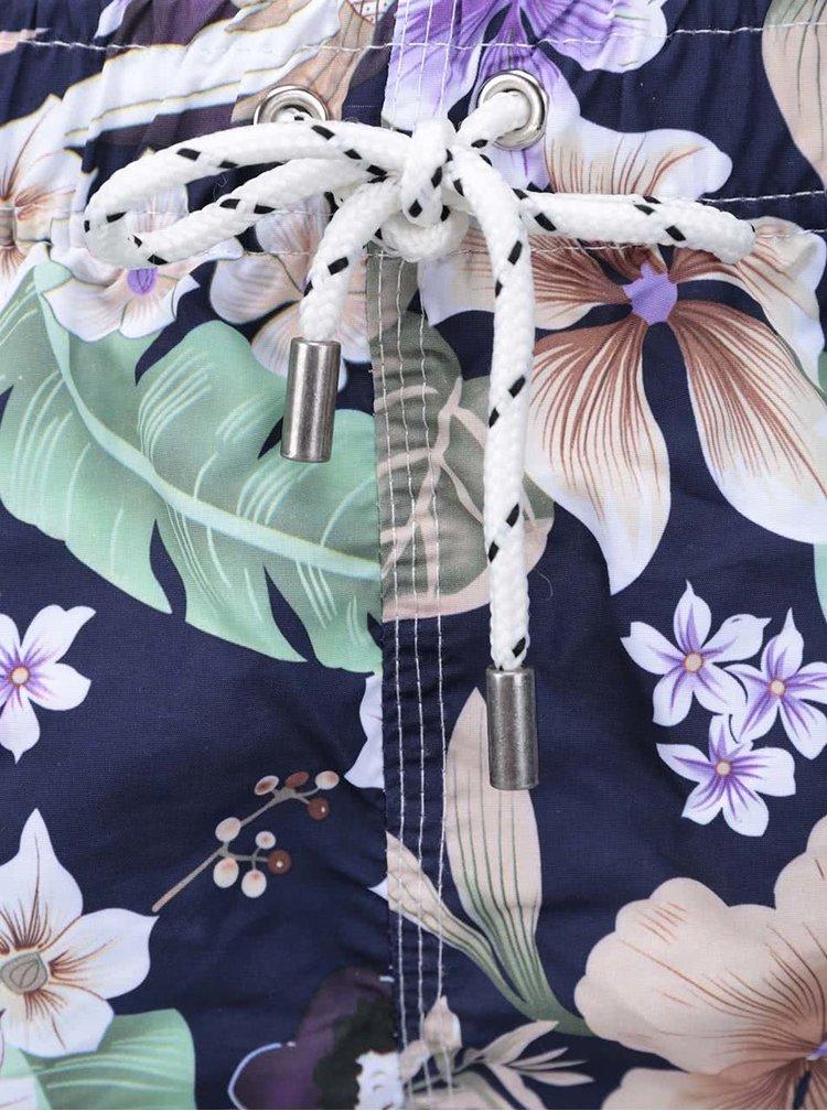 Modré pánske plavky s kvetinovým vzorom Bellfield Colada