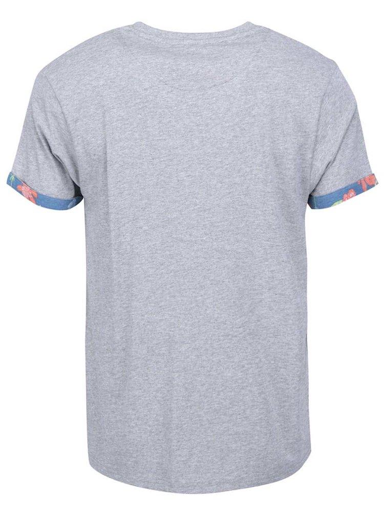 Šedé pánské triko s potištěnou kapsou Bellfield Burnett