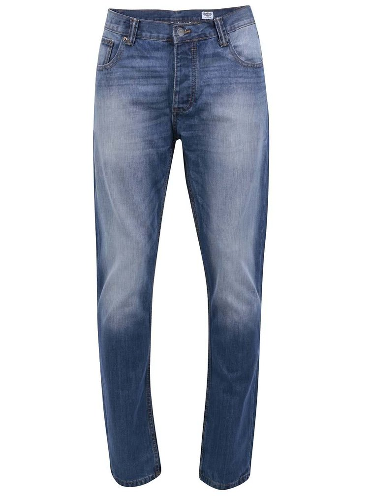 Modré pánské džíny s ošoupaným efektem Bellfield Gonzo Yosemite