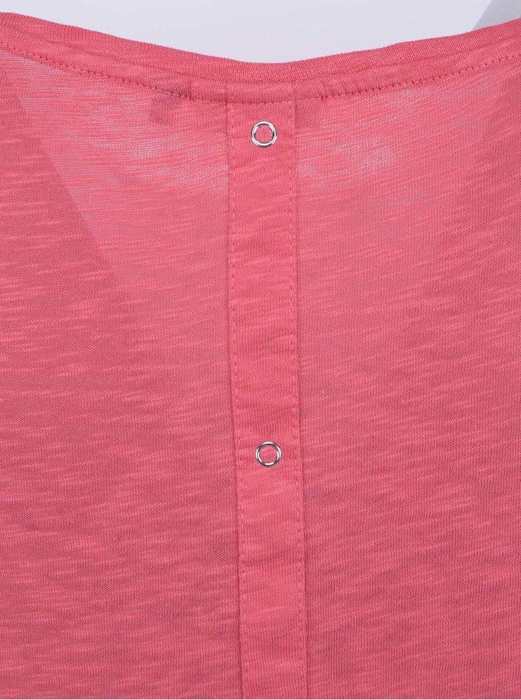 Růžové delší tričko ONLY Casa