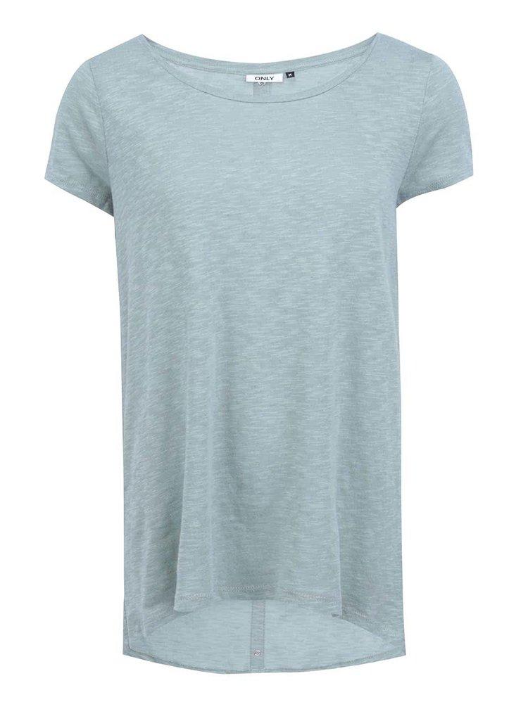 Modro-zelené dlhšie tričko ONLY Casa