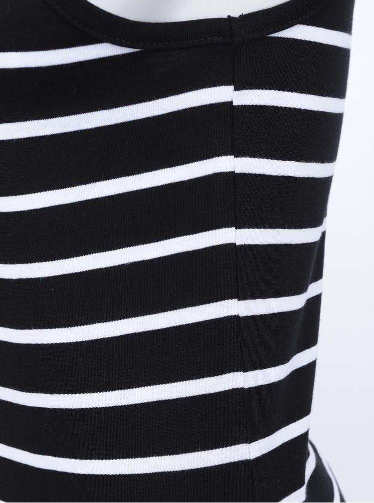 Černo-bílé pruhované maxišaty ONLY Abbie