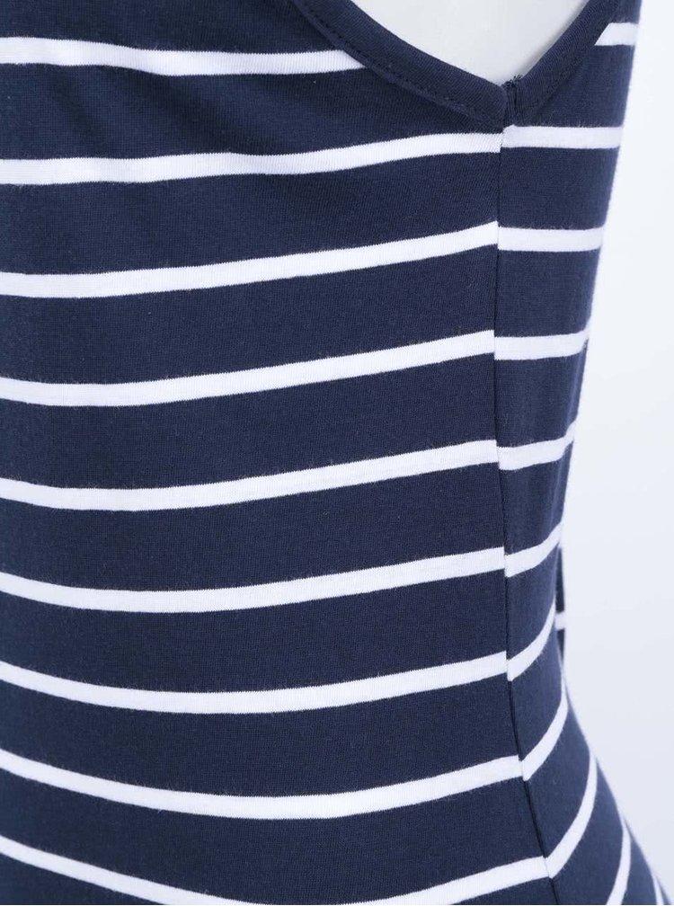 Bielo-modré pruhované maxišaty ONLY Abbie