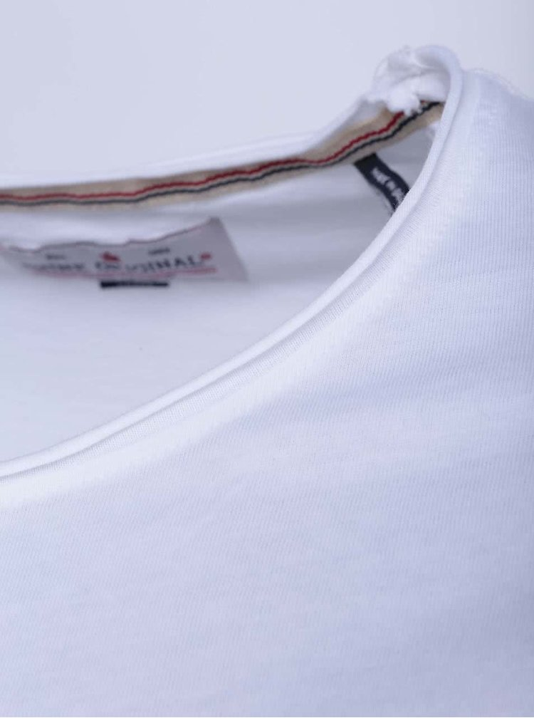 Bílé tričko s krátkým rukávem Shine Original Andy