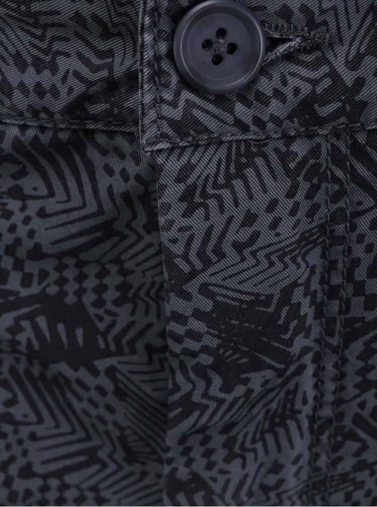 Čierne kraťasy so vzorom Shine Original