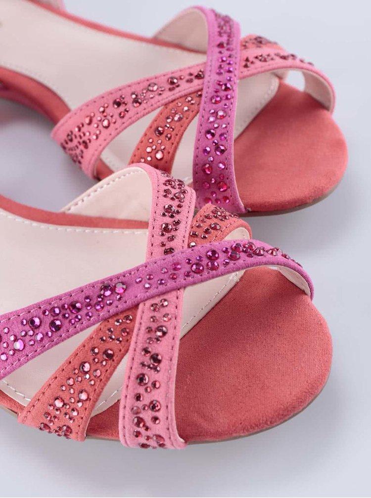 Růžové páskové sandály ALDO Ragada