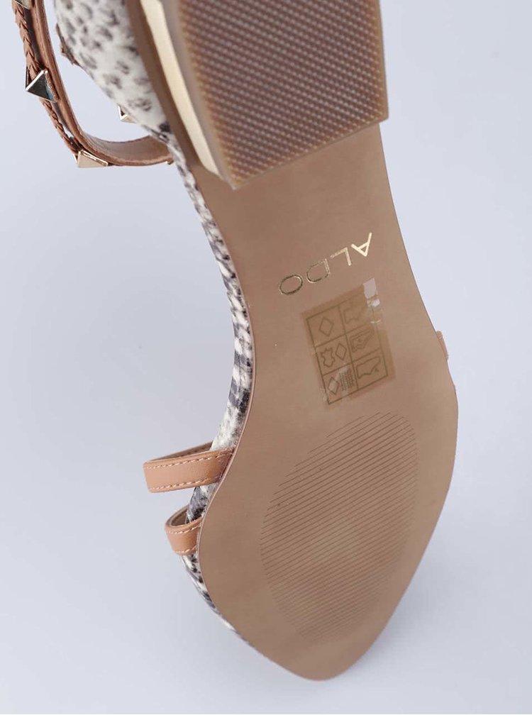 Hadí sandály s kovovou aplikací ALDO Locadi