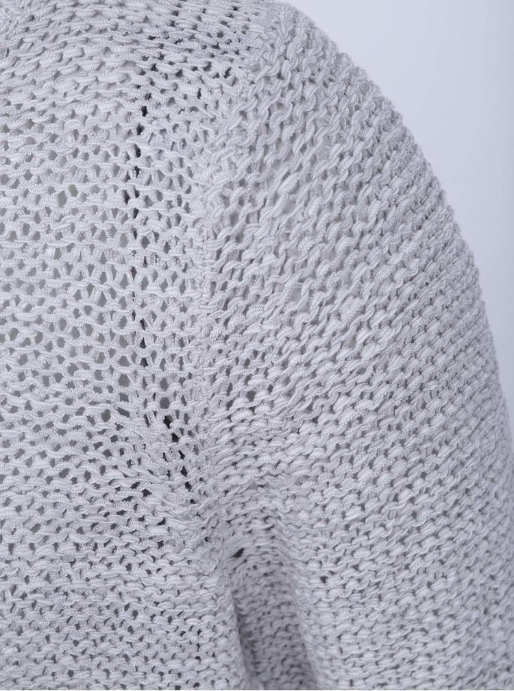 Svetlosivý pletený sveter ONLY Geena