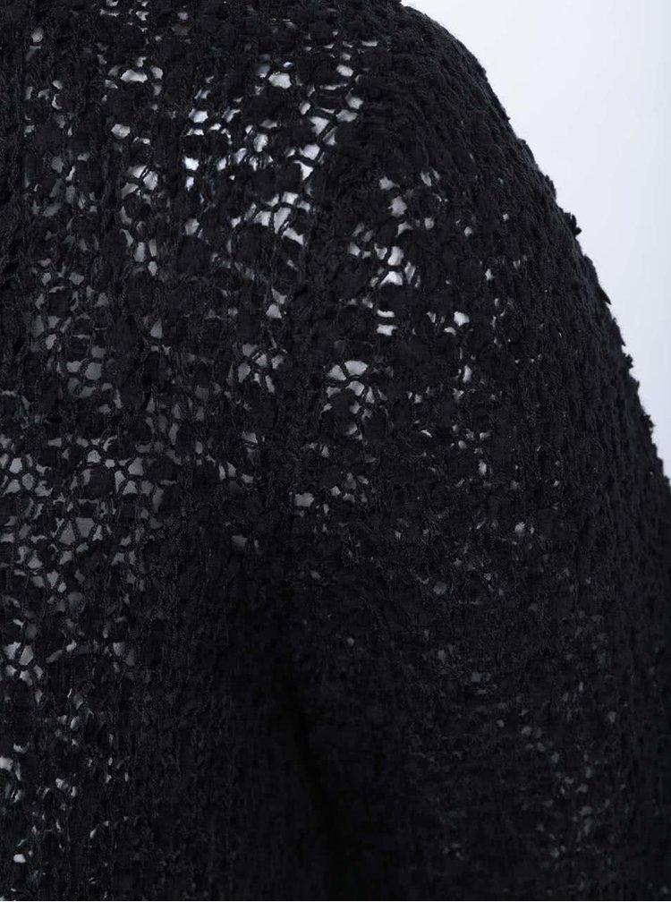 Černý pletený svetr ONLY Popcorn