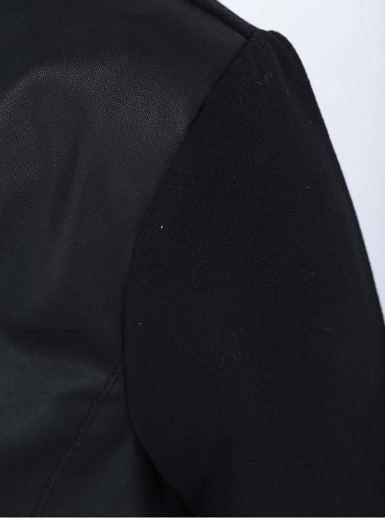 Čierny koženkový blejzer ONLY Hope