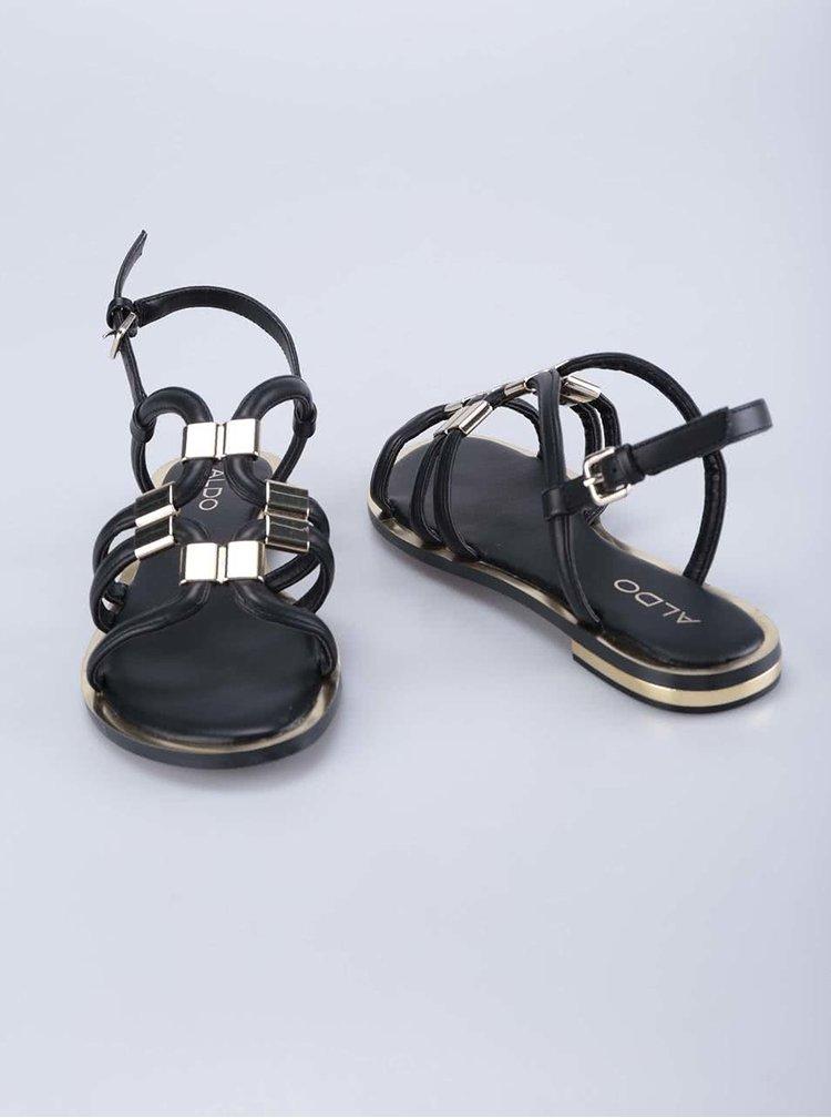 Černé páskové sandály ALDO Reinelle