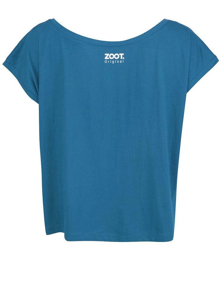Modré dámské volnější tričko s nápisem ZOOT Originál Lost at sea