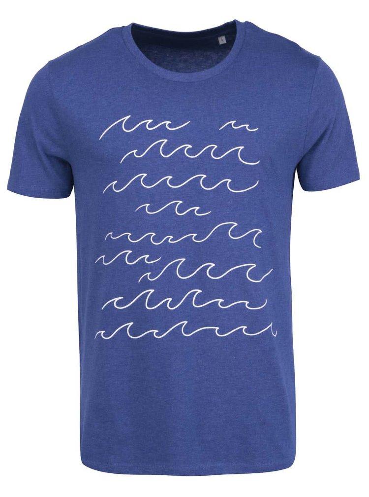 Modré pánské triko s potiskem ZOOT Originál Vlny