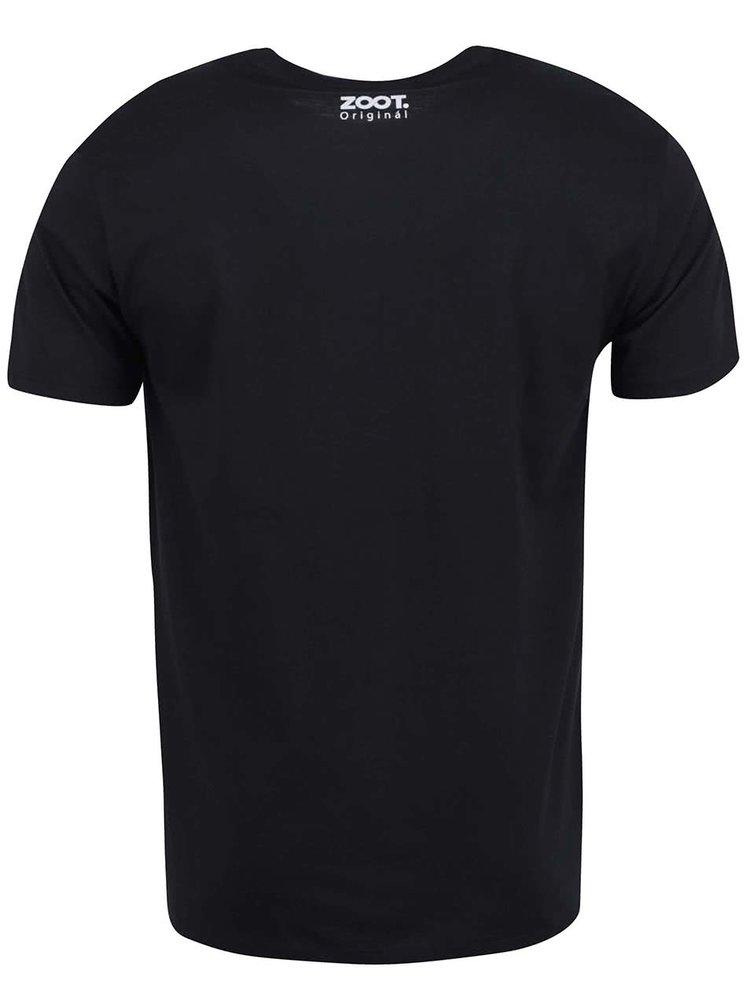 Černé pánské tričko ZOOT Originál Dopiju a jdu