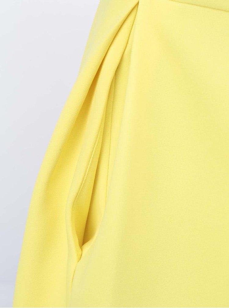 Žluté šaty s krajkovým pruhem Closet