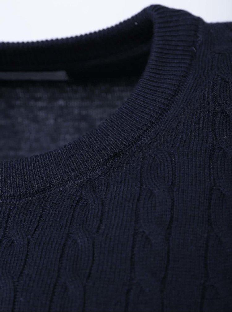 Tmavě modrý svetr Selected Clay